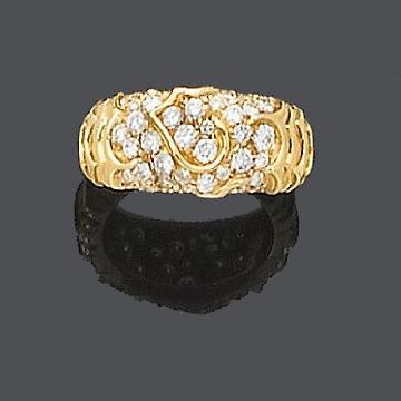 A diamond 'Onda' ring, by Marina B