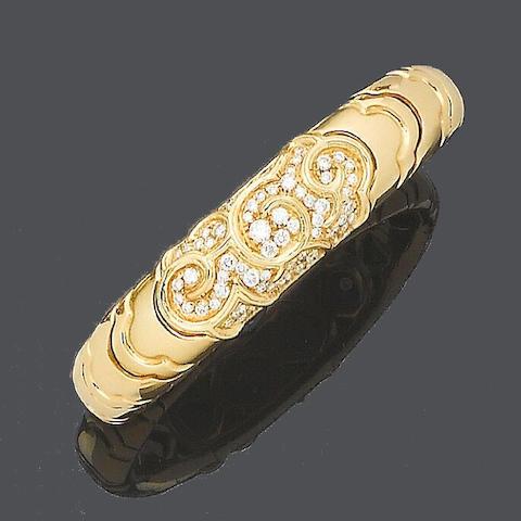 A diamond 'Onda' bangle, by Marina B