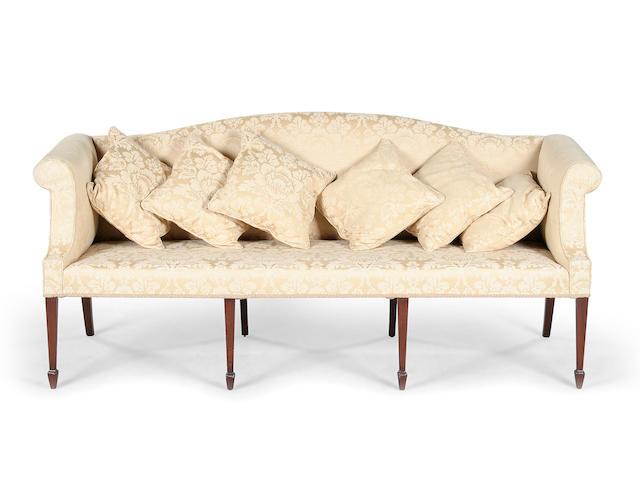 A George III mahogany sofa circa 1790