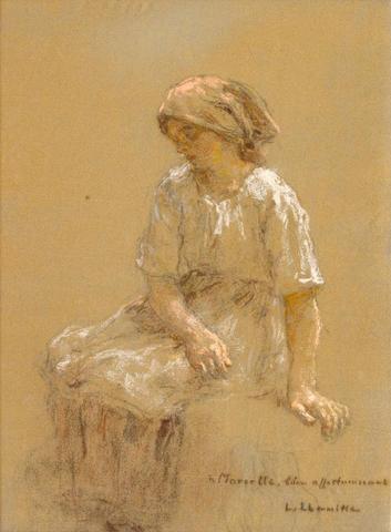 Léon Augustin Lhermitte (French, 1844-1925) Femme au repos