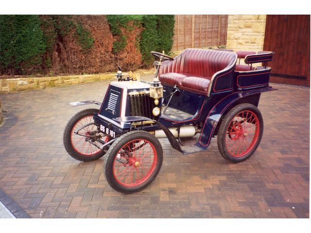 1901 Renault 4½hp Type D Series A Rear-Entrance Tonneau  Chassis no. 24 Engine no. 5244/3278