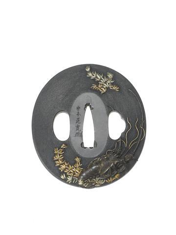 A kinko shakudo tsuba After Iwamoto Konkan, late Edo Period