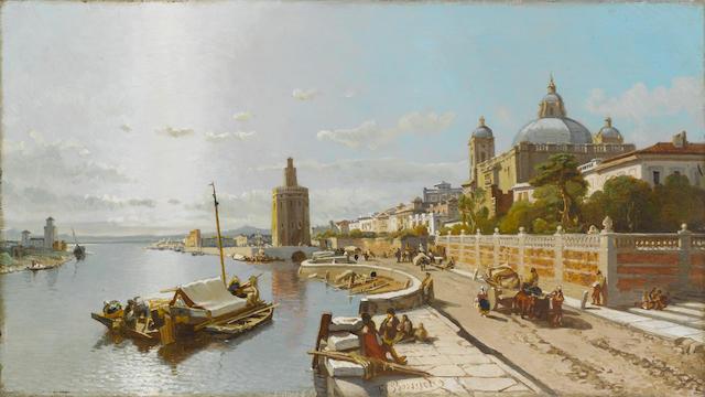 François Antoine Bossuet (Belgian, 1800-1889) The Torre del Oro, Seville