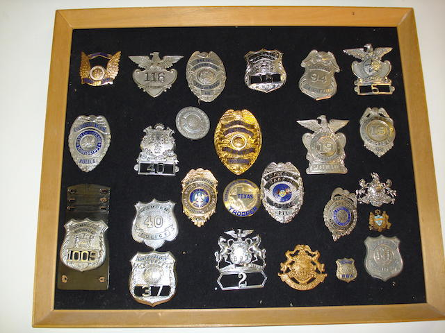 U.S. Police Shields And Badges