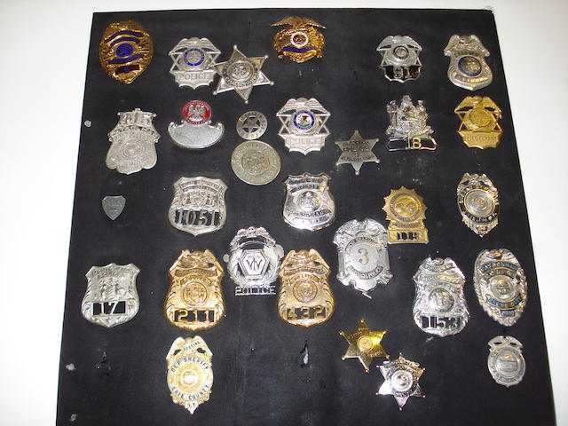 U.S. Police Shields And Cap Badges