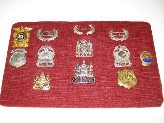 U.S. Police Cap Badges And Shields