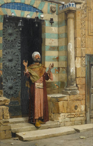 Ludwig Deutsch (Austrian, 1855-1935) At the door of the mosque