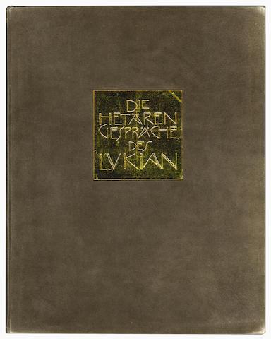 KLIMT (GUSTAV) LUCIAN of Samosata. De Hetaerensgespraeche des Lukian, NUMBER 24 OF 100 COPIES SPECIA