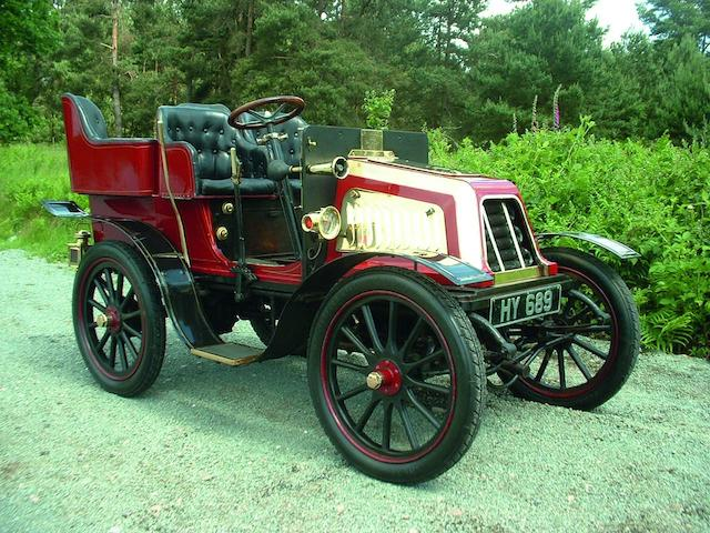 1903 Gamage Aster 6½hp Rear-Entrance Tonneau  Engine no. 6957/7803