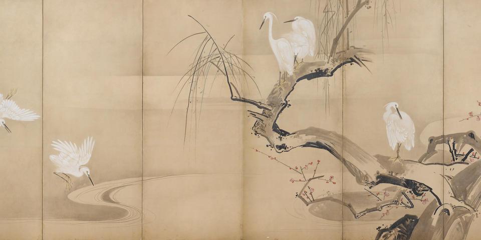Watanabe Shiko (1683-1755) Kano Style, Edo Period, 18th century