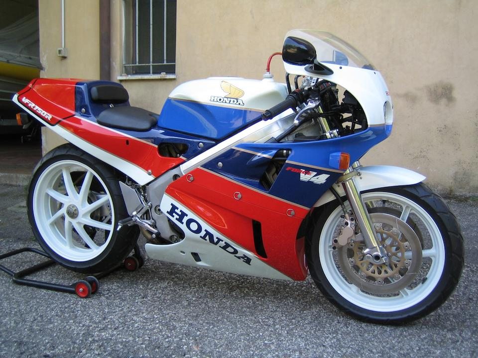 3 kilometres from new,1987 Honda VFR750R Type RC30  Frame no. RC30 1000476 Engine no. RC07E 1032521