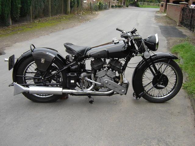 First registered to George Brough Esq,1938 Brough Superior 982cc SS80  Frame no. M8/1998 Engine no. BS/X 4699