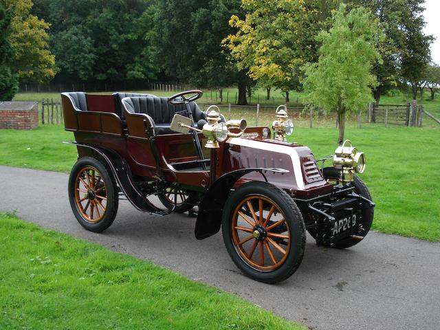 1902 Clément Twin-Cylinder 9hp Four-Seater Rear-Entrance Tonneau  Chassis no. 3265 Engine no. 375
