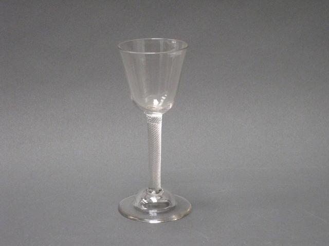 An airtwist wine glass Circa 1750