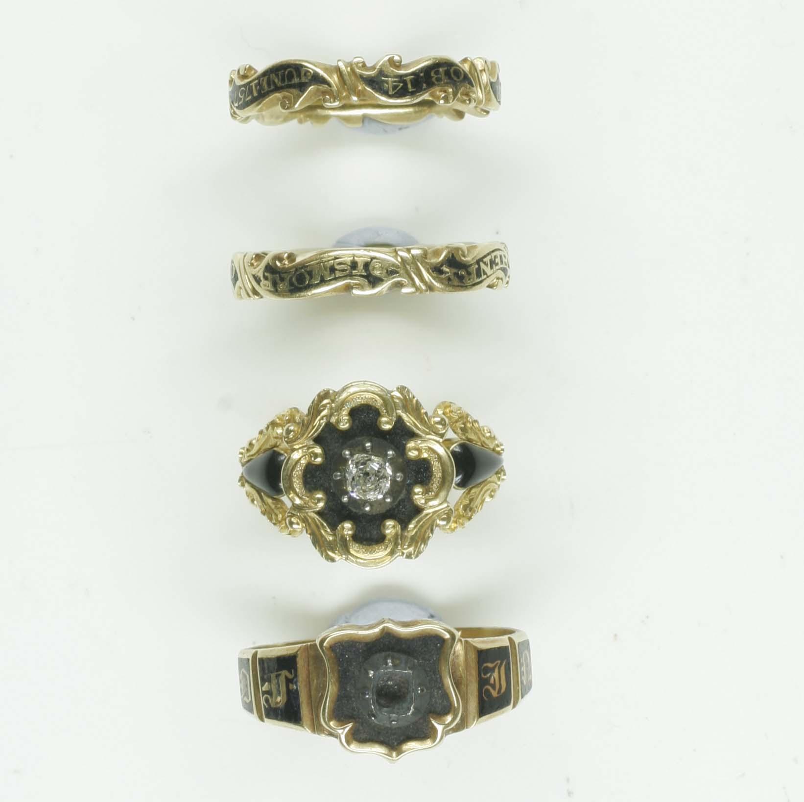 Four memorial rings