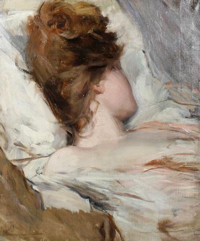 Albert de Belleroche (British, 1864-1944) Lili asleep