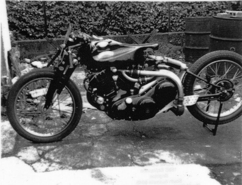 Reg Dearden's Supercharged Vincent,1949 Vincent Black Lightning  Frame no. RC4436 Engine no. F10AB/1C/2536