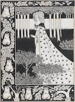 Aubrey Vincent Beardsley (British, 1872-1898) La belle Isould at joyous gard   26cm x 19cm. (10 1/4
