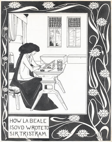 Aubrey Vincent Beardsley (British, 1872-1898) How la Beale Isoud wrote to Sir Tristram unframed