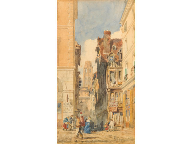 Edward William Cooke, RA (British, 1811-1880) Rue de la Tuile, Rouen