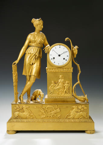 A late 19th century French ormolu mantel clock A Paris