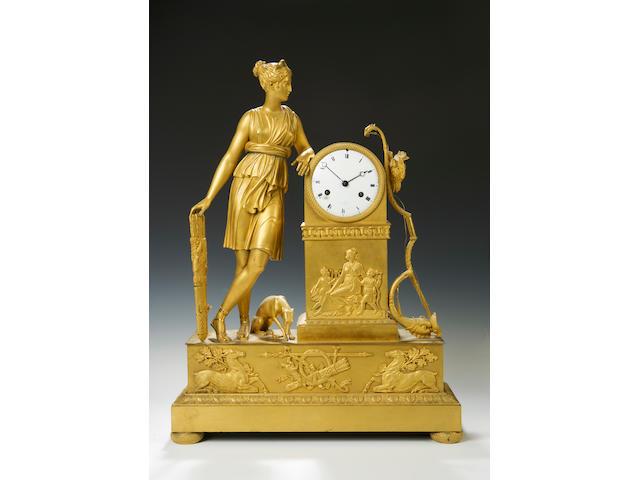 A late 19th century French ormolu mantel clock A Paris