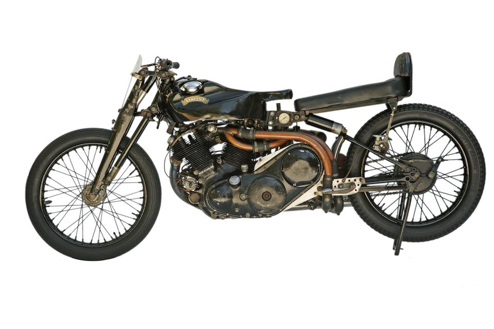 Reg Dearden's Supercharged Vincent,1949 Vincent Black Lightning  Frame no. RC4436 Engine no. F10AB/1C/2536