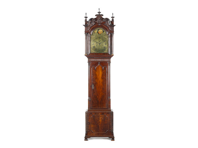 A good late 18th century mahogany longcase clock with moonphase James Butler, Bolton