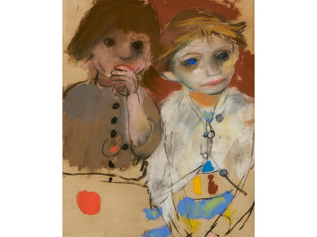 Joan Kathleen Harding Eardley (British, 1921-1963) Two girls