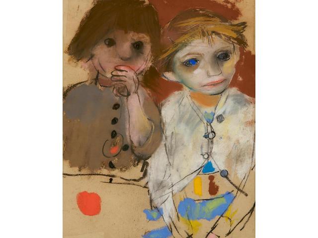 Joan Kathleen Harding Eardley (British, 1921-1963) 'Two girls'
