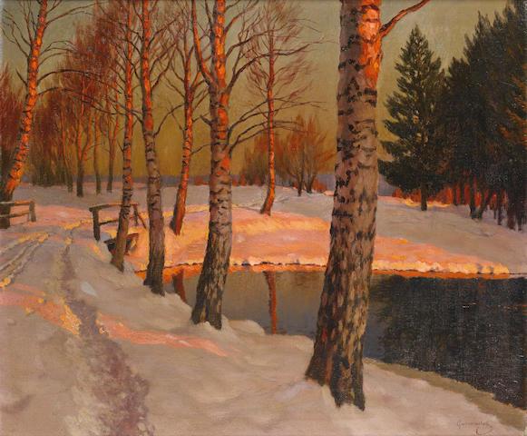 Mikhail Markianovitch Guermacheff (Russian, 1868-1930) Sunset