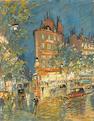 Konstantin Alexeevich Korovin (Russian, 1861-1939) Paris street scene