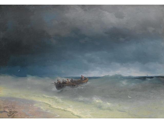 Ivan Konstantinovich Aivazovsky (Russian, 1817-1900) Storm