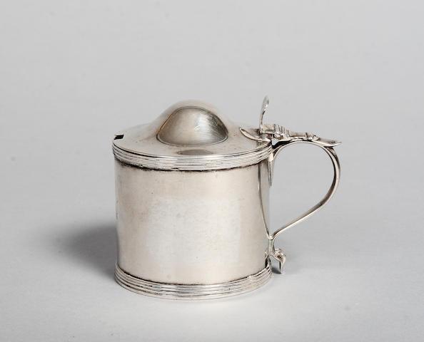 A George III silver drum mustard T H London 1791