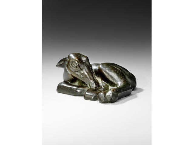 Henri Gaudier-Brzeska (French 1891-1915) Sleeping Fawn 25.5 cm. (10 in.) long