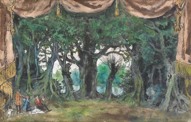 Albert Benois (Russian, born 1888) Sleeping Beauty