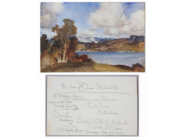 Sir William Russell Flint R.A., P.R.W.S. (British, 1880-1969) 11 x 17cm Unframed.