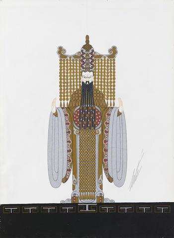 Erté (Romain de Tirtoff) (Russian, 1892-1990) Costume design for a Mandarin, Aladin