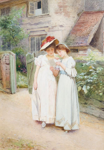Carlton Alfred Smith, RI, RBA, ROI (British, 1853-1946) 'Confidences'