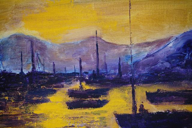 "James Lawrence Isherwood (British, 1917-1988) ""Spanish Boats"","