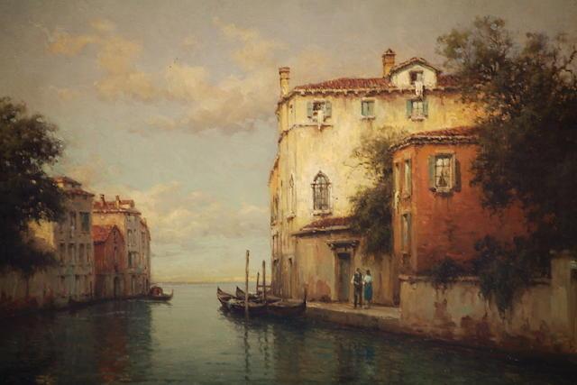 Antoine Bouvard (French, 1870-1956) A Venetian Canal,