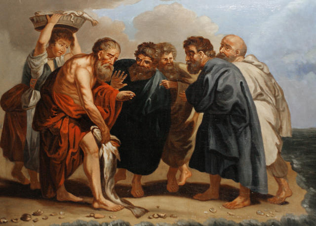 Manner of Jacob Jordaens Saint Peter finding the Tribute Money
