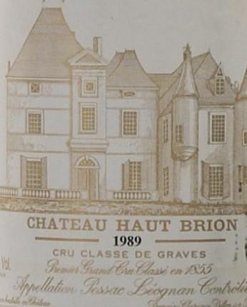 Chateau Haut Brion 1989, Graves (6)