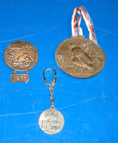 Two bronze medallion,