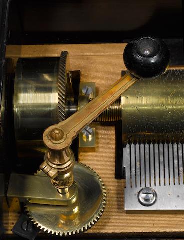A Rare Karrer Mandoline-Harpe-Piccolo musical box, circa 1885,