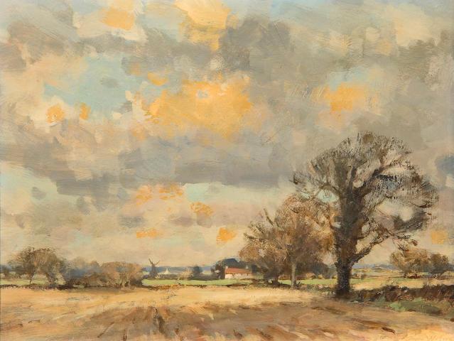 Owen Waters (British, 1916-2004) Norfolk fields - early spring