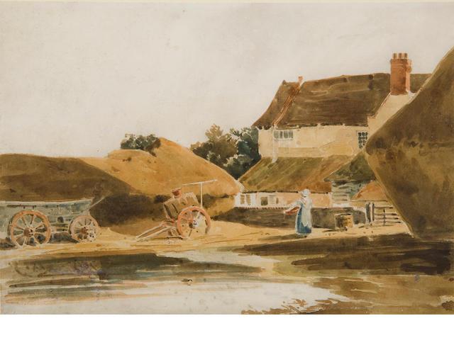 Robert Dixon (British, 1780-1815) A farmyard