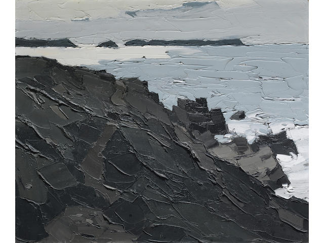 Kyffin Williams (British, born 1918) St David's Head 50.5 x 60 cm. (20 x 23 1/2 in.)