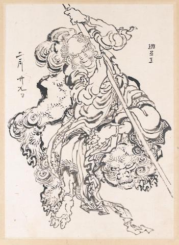 Katsushika Hokusai (1760-1849) Dated 29th day, 2nd month
