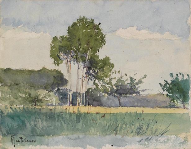 An assortment of fourteen works on paper